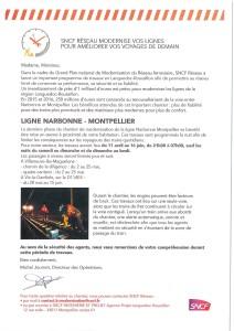 TRAVAUX Narbonne Montpellier lettre 3 - Vic VIlleneuve Mireval