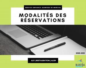 Modalités de réservation - SEJM